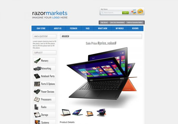 Check out M2E Pro Listing Template 2 used for selling on eBay like a pro. Built with love by RazorERP.